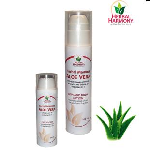 Aloe Vera skin cream and lotion - Herbal Harmony
